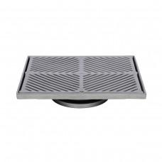 #316 Stainless Steel 300mm Heel Proof Square Floor Waste (suits 150mm pipe)
