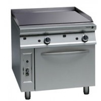 Gas Chrome Fry-Top with Oven