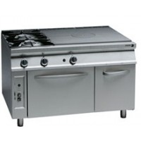 Gas Solid Top Range with Open Burners and Oven