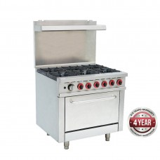Commercial 6 Burner Gas Range With Oven Flame Failure