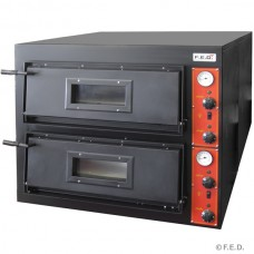 Black Panther by FED EP-1 Germanys Pizza Double Deck Oven - Deep Series