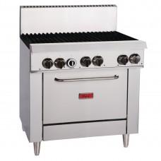 6 Burner Gas Oven Range TR-6F