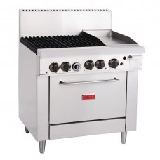 4 Burner Gas Oven Range with Griddle Plate TR-4F-G12F