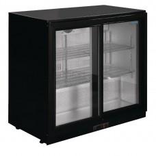 G Series Counter Back Bar Cooler with Sliding Doors 208Ltr