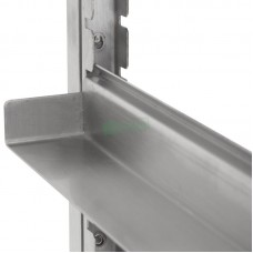 Adjustable Glass Rack Stainless steel notched channel 25mm
