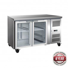 Thermaster by FED GN2100TNG 2 Glass Door Gastronorm Bench Fridge