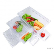 F.E.D. JW-P112 Clear Poly 1/1 X 65mm Gastronorm Pan