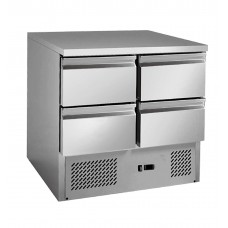 Thermaster by FED GNS900-4D 4 Drawers S/S Benchtop Fridge 900X700X850