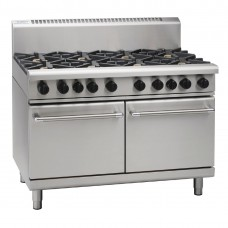 Waldorf RN8823G 1200mm Static Double Oven Range 6XBurners & 300mm Griddle