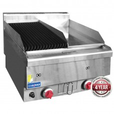 Gasmax by FED JUS-TRGH60 Benchtop Combo 1/2 Char and 1/2 Griddle