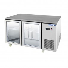 Grand by FED GTR2100BG 2 Glass Door Gastronorm Bench Fridge