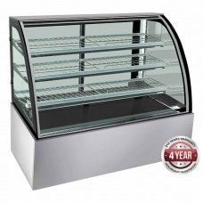 Thermaster by FED H-SL840 Bonvue Curved Heated Food Display - 1200mm