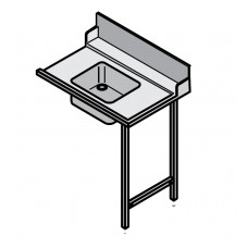 1200mm Right Side Dishwasher table with sink, suits Hobart Hood Machines