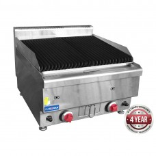 Gasmax by FED JUS-TRH60 Benchtop 2 Burner Chargrill