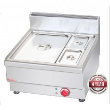 Bain Marie With 1x 1/1 Pan + 2x ¼ GN Pan and Lid