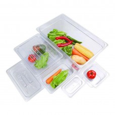 F.E.D. JW-P122 Clear Poly 1/2 X 65mm Gastronorm Pan