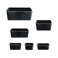 Black Poly 1/3 X 100mm Gastronorm Pan