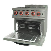 Natural Gas Four Burner Top On Oven