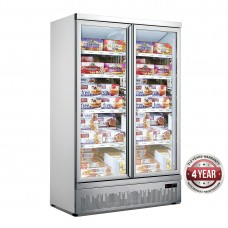 Double Glass Door Colourbond Upright Freezer Bottom Mounted 1253X710X1990