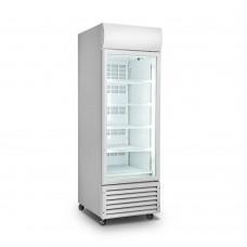 Single Glass Door White Colourbond Upright Drink Fridge 370 Liter