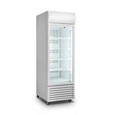 Single Glass Door White Colourbond Upright Drink Fridge 540 Liter