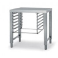 Stainless steel open stand with side runners for model CEV 101