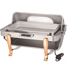 Oblong Chafing Dish With Gilt Legs And Show Window, 680X460X420