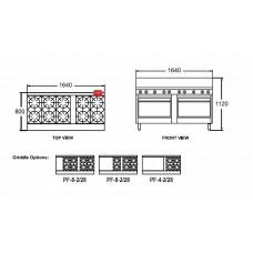 10 Burner Double Oven Range - Gas 711mm (28