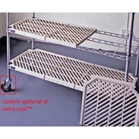 5 Shelf Plastic Mat Add-On Shelving Kit - 1220mmX455mm