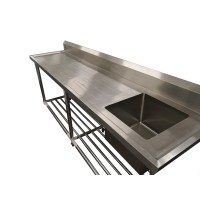 Premium Stainless Steel Bench Single Right Sink 1200x600