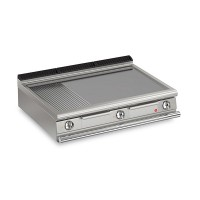 Queen7 Countertop Electric Flat/Ribbed Mild Steel Griddle Plate - 1200mm