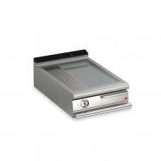 Baron Q70FT/E623 Queen7 Countertop Electric Flat/Ribbed Stainless Griddle Plate - 600mm