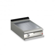 Baron Q70FT/E615 Queen7 Countertop Electric Ribbed Chrome Griddle Plate - 600mm