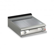 Baron Q70FT/E815 Queen7 Countertop Electric Ribbed Chrome Griddle Plate - 800mm