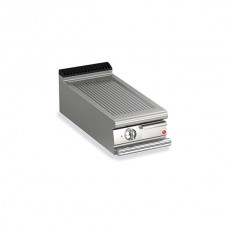 Baron Q70FT/E410 Queen7 Countertop Electric Ribbed Mild Steel Griddle Plate - 400mm