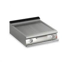 Baron Q70FT/E810 Queen7 Countertop Electric Ribbed Mild Steel Griddle Plate - 800mm