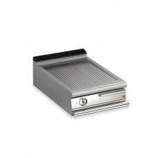 Baron Q70FT/E613 Queen7 Countertop Electric Ribbed Stainless Griddle Plate - 600mm
