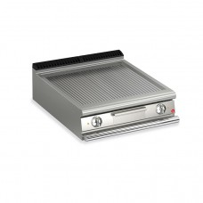 Baron Q70FT/E813 Queen7 Countertop Electric Ribbed Stainless Griddle Plate - 800mm