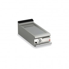 Baron Q70FTT/G400 Queen7 Countertop Gas Flat Mild Steel Griddle Plate Thermostat Cont. - 400mm