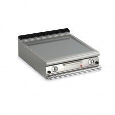Baron Q70FTT/G800 Queen7 Countertop Gas Flat Mild Steel Griddle Plate Thermostat Cont. - 800mm
