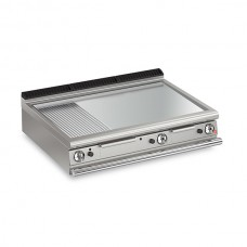 Baron Q70FTT/G1225 Queen7 Countertop Gas Flat/Ribbed Chrome Griddle Plate Thermostat Cont. - 1200mm