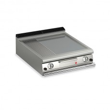 Baron Q70FT/G820 Queen7 Countertop Gas Flat/Ribbed Mild Steel Griddle Plate - 800mm