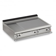 Baron Q70FTT/G1220 Queen7 Countertop Gas Flat/Ribbed Mild Steel Griddle Plate Thermostat Cont. - 1200mm