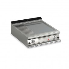 Baron Q70FT/G823 Queen7 Countertop Gas Flat/Ribbed Stainless Griddle Plate - 800mm