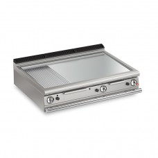 Baron Q70FTT/G1223 Queen7 Countertop Gas Flat/Ribbed Stainless Griddle Plate Thermostat Cont. - 1200mm