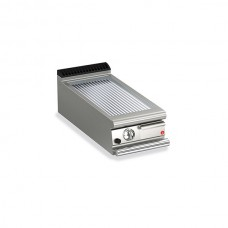 Baron Q70FTT/G415 Queen7 Countertop Gas Ribbed Chrome Griddle Plate Thermostat Cont. - 400mm