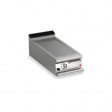 Baron Q70FTT/G410 Queen7 Countertop Gas Ribbed Mild Steel Griddle Plate Thermostat Cont. - 400mm