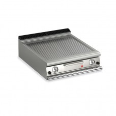 Baron Q70FTT/G810 Queen7 Countertop Gas Ribbed Mild Steel Griddle Plate Thermostat Cont. - 800mm