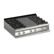 Baron Q70TPM/G1203 Queen7 Countertop Gas Solid Top With 2 Burners On Left and Right - 1200mm