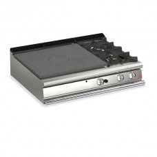 Baron Q70TP/G1203DX Queen7 Countertop Gas Solid Top With 2 Burners On Right - 1200mm